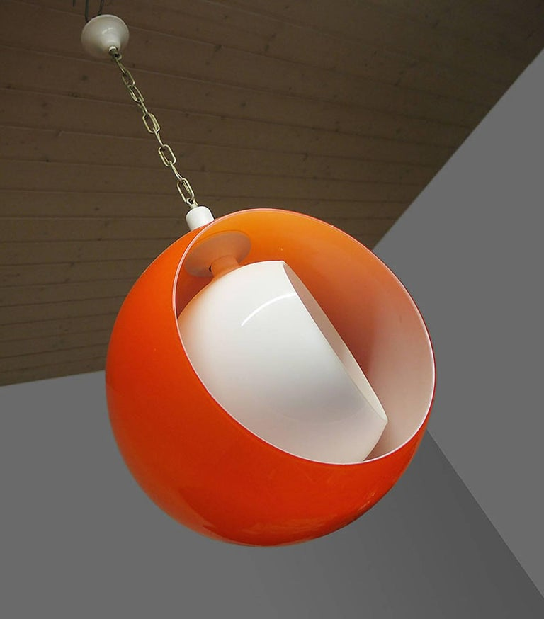Murano Glass Pendant Lamp by Carlo Nason for Mazzega, 1960s In Good Condition For Sale In Niederdorfelden, Hessen