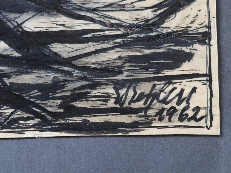 Emil Betzler 'Legend' German Expressionist Ink Painting In Good Condition For Sale In Niederdorfelden, Hessen