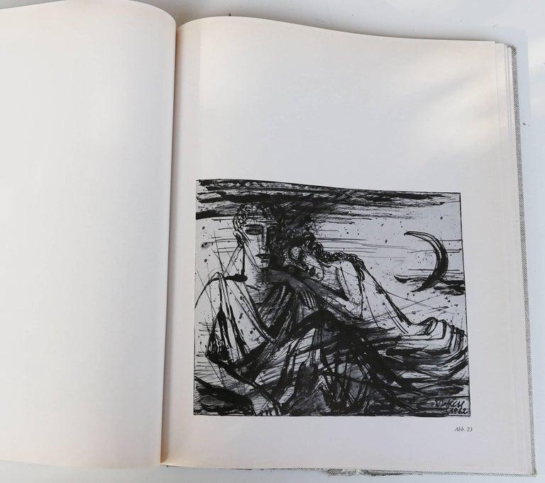 Paper Emil Betzler 'Legend' German Expressionist Ink Painting For Sale