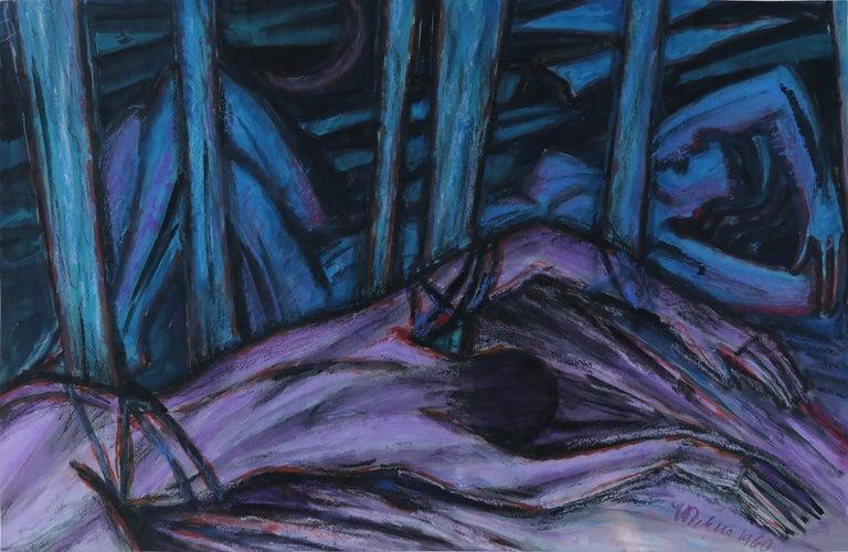 Emil Betzler 'Icarus'' German Expressionist Painting In Good Condition For Sale In Niederdorfelden, Hessen
