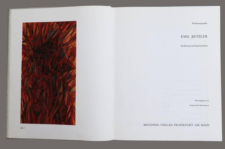 Emil Betzler 'Legend' German Expressionist Ink Painting For Sale 1