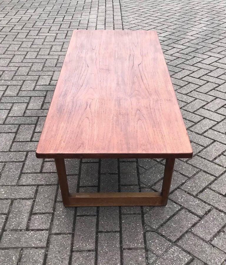 Mid-Century Modern Danish Design Large Teakwood Coffee Table by ...