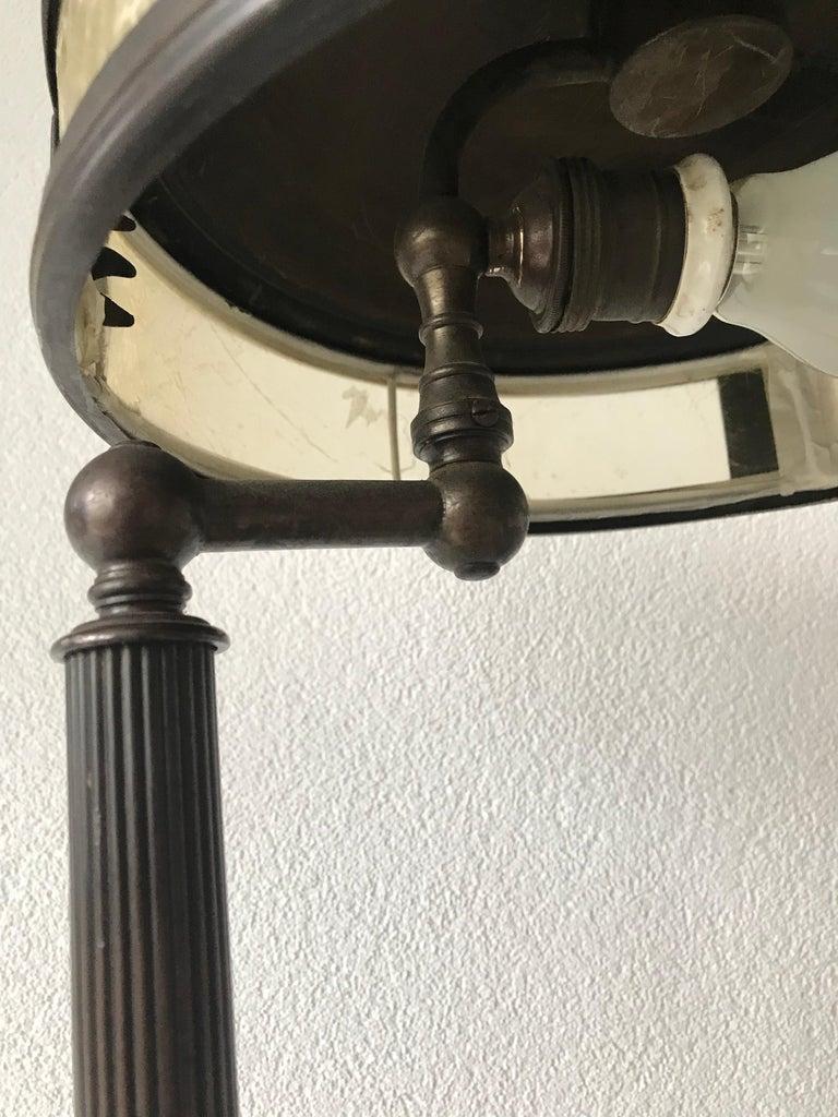 Hand-Crafted Jugendstil Era Arts & Crafts Patinated Brass Table or Desk Standard Lamp For Sale