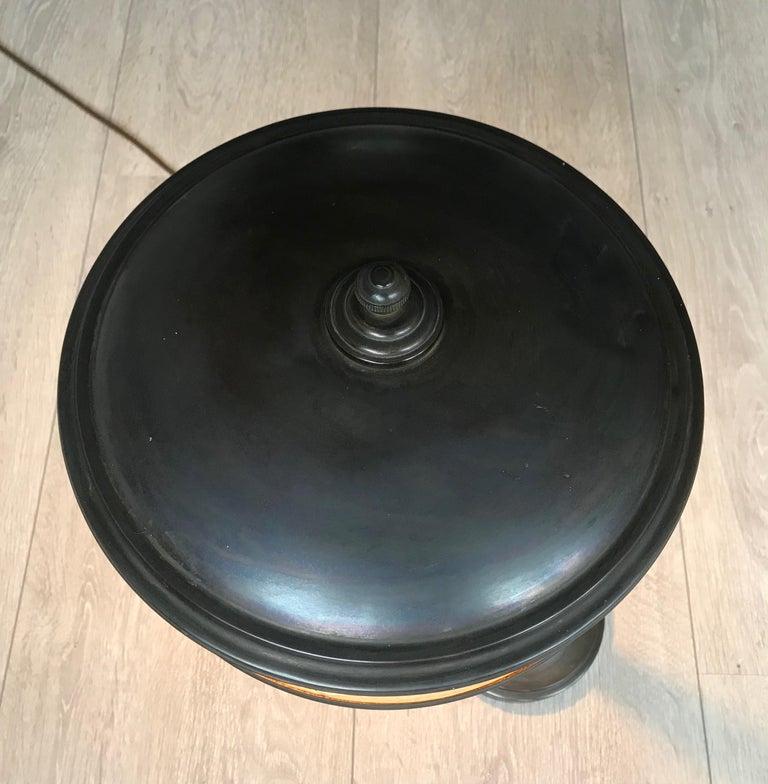 Jugendstil Era Arts & Crafts Patinated Brass Table or Desk Standard Lamp For Sale 5