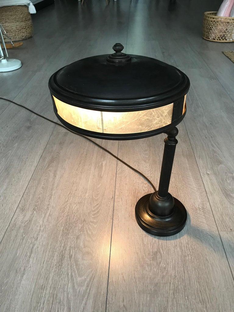Jugendstil Era Arts & Crafts Patinated Brass Table or Desk Standard Lamp For Sale 6