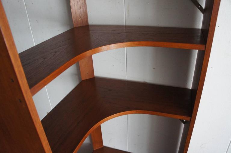 Mid-Century Modern Scandinavian Design Corner Cabinet Bookcase or Stereo Cabinet For Sale 1