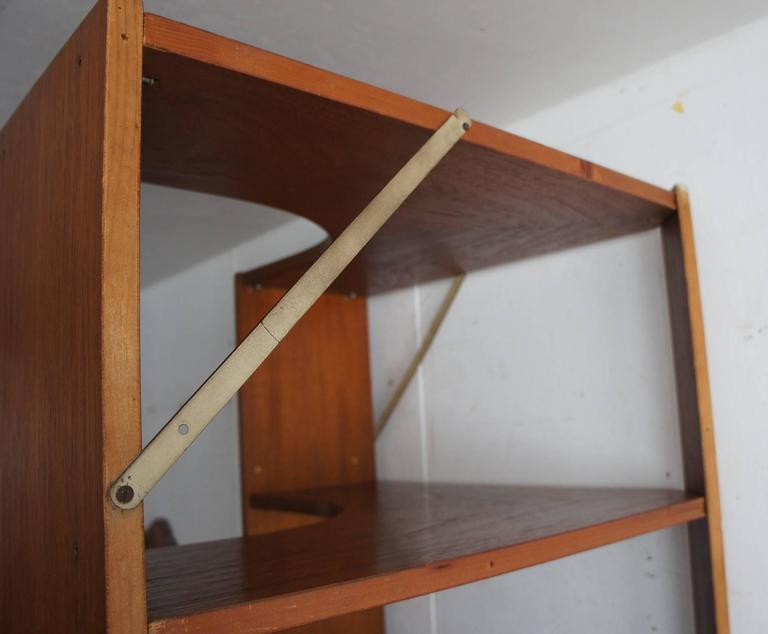 Mid-Century Modern Scandinavian Design Corner Cabinet Bookcase or Stereo Cabinet For Sale 2