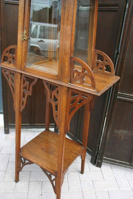 antique jugendstil or art nouveau etagere table and bevelled glass display cabinet for sale at. Black Bedroom Furniture Sets. Home Design Ideas