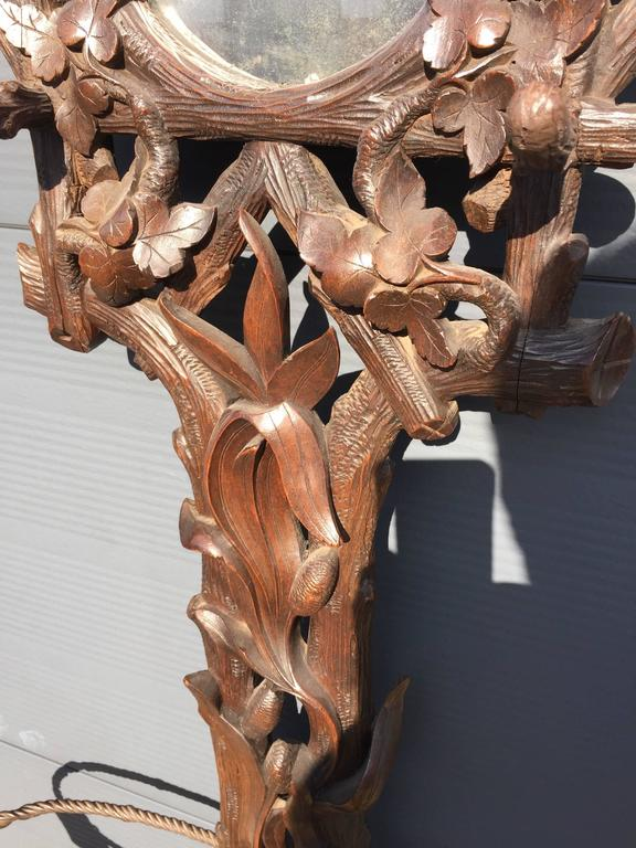 19th Century Black Forest Carved Tree Shaped Coat Rack, Umbrella Hall Stand 5