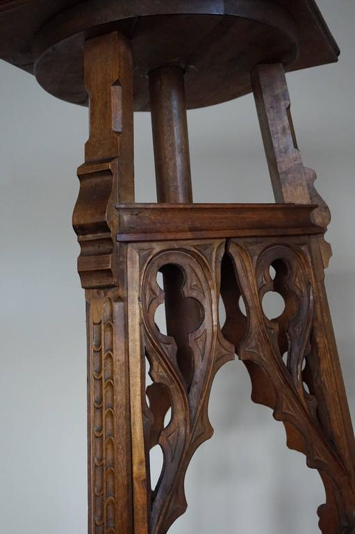 Large th century hand carved gothic revival sculpture