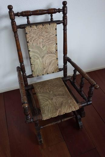 Magnificent Rare Antique Rocking Chair For Children American Rocker For Child Or Toy Bear Andrewgaddart Wooden Chair Designs For Living Room Andrewgaddartcom