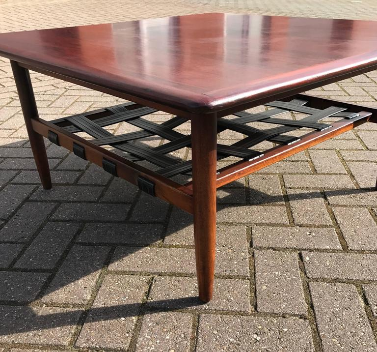 Mid Century Danish Modern Small Scale Drawer Coffee Table: Mid-Century Danish Rosewood And Teak Coffee Table With
