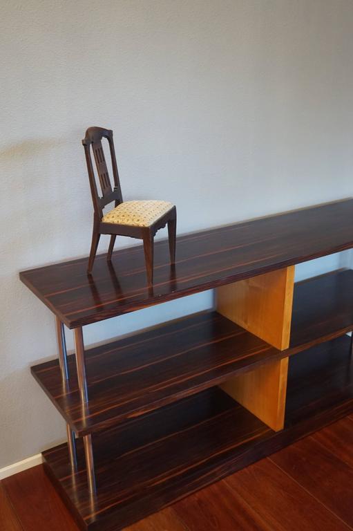 Antique Handcrafted Jugendstil Oak Miniature or Doll Chair Beautiful Design For Sale 3