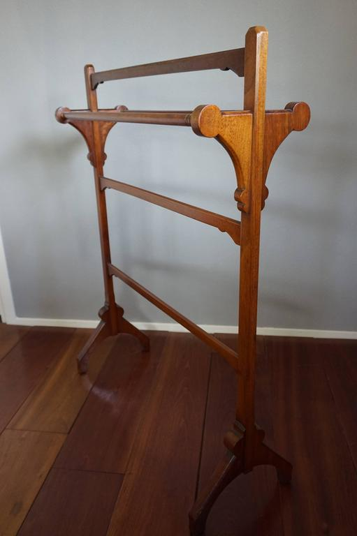 Arts And Crafts Walnut Towel Rack By Gillow And Co