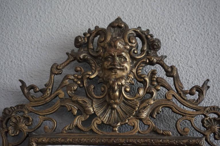 Pair Of Renaissance Revival Bronze And Beveled Mirror Wall