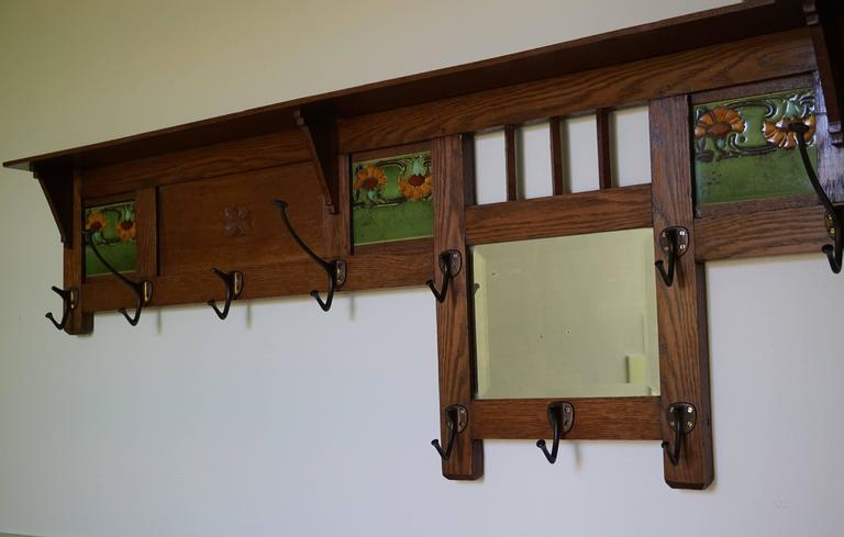 Long Beautiful And Practical Arts Crafts Wall Coat Rack If You Have The