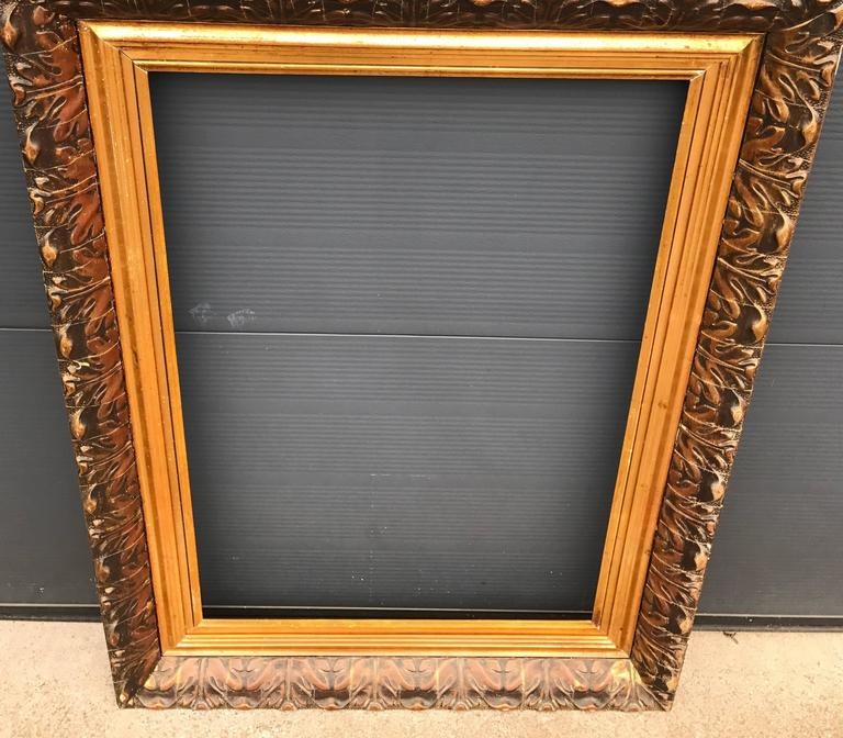 Large and Decorative Gilded Antique Painting or Mirror Frame with ...