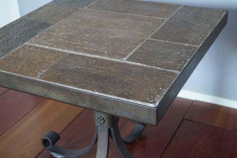 Rare design and practical size Brutalist table.  If you are looking for a coffee or end table that stands out from all the other ones than this rare Brutalist one is definitely worth looking into. First of all, it comes with an extraordinary,