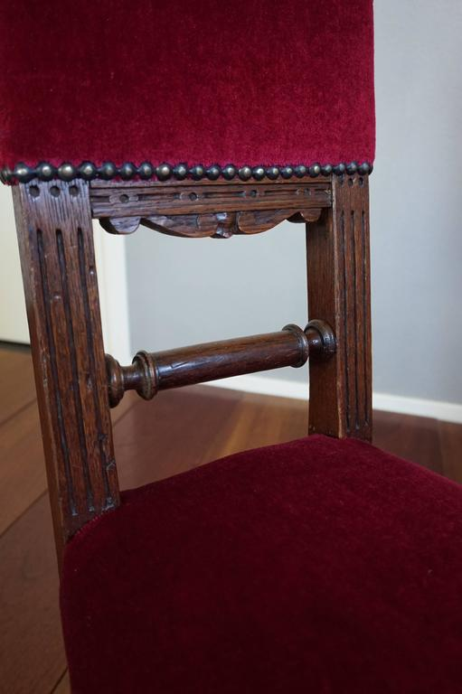 20th Century Two Excellent & Rare Handcrafted Solid Oak Chairs for Small Children or Dolls For Sale