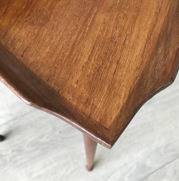 Mid-Century Modern Danish Teak Guitar Pick Triangle Nest of Tables Vintage Set 5
