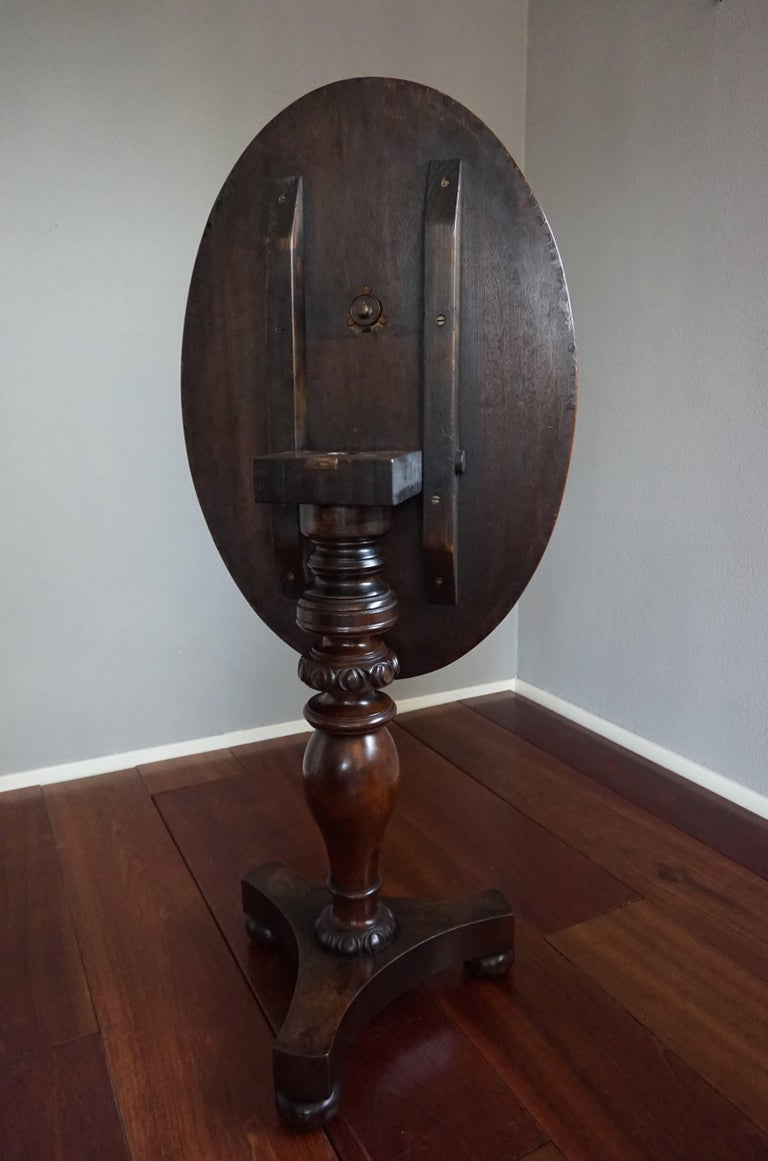 Antique Nutwood And Burl Nutwood Tilt Top Chess Table With