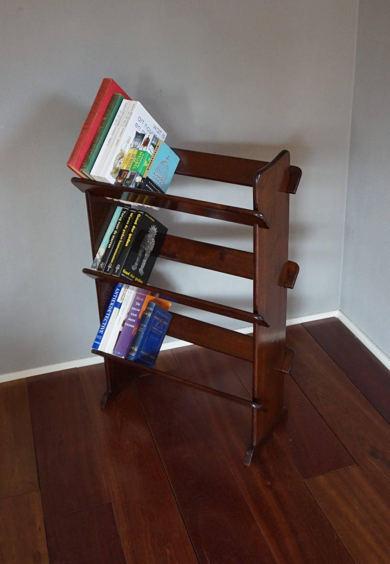 Stylish and seperable antique bookcase.  This rare, three-tier bookcase could be the perfect finish to a small area for reading, rest and relaxation. However, this timeless design could also be used in an office setting for quick and easy access to
