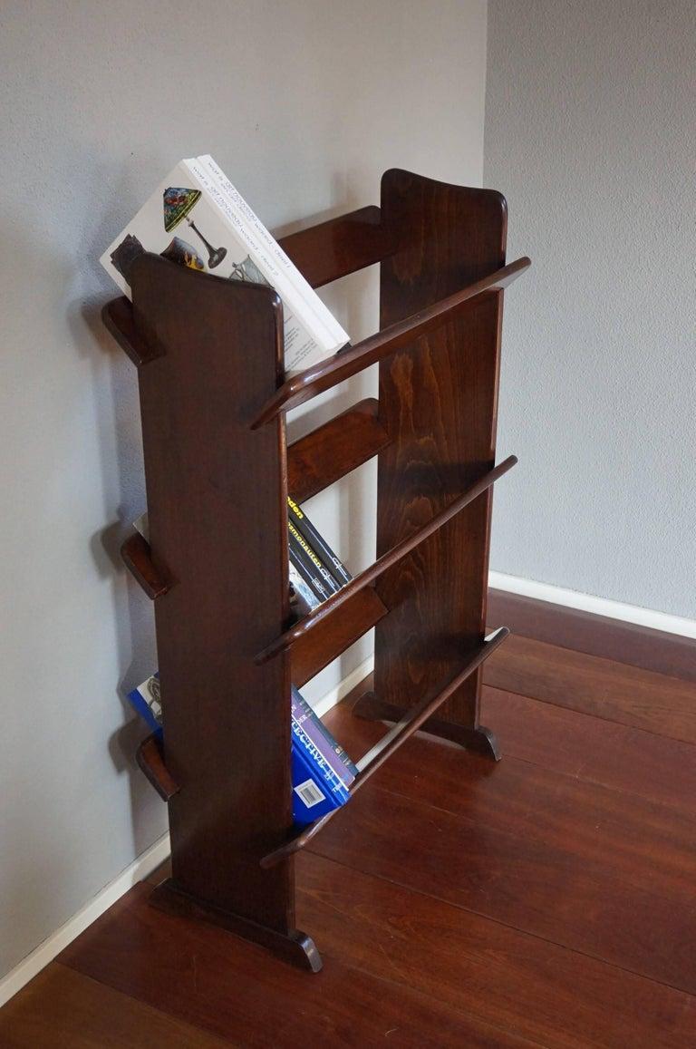 20th Century Antique and Rare Mahogany Color Three Tier Small Bookcase or Book Trough