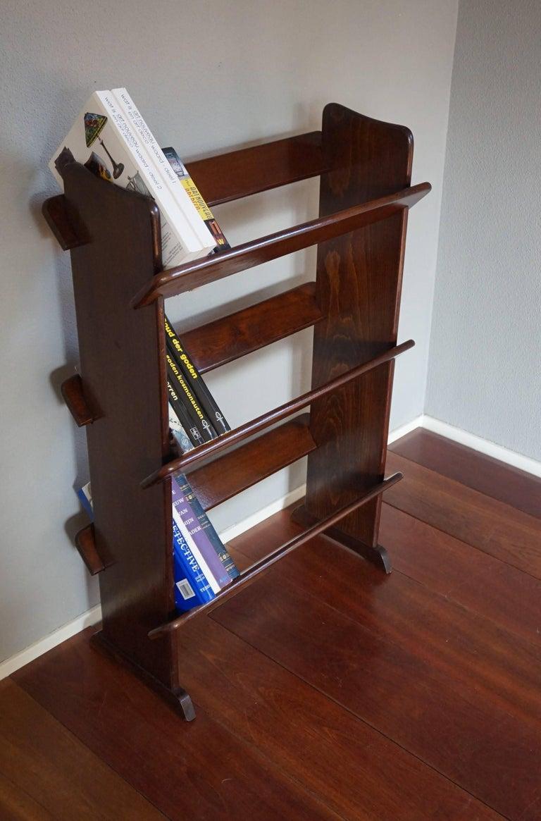 Antique and Rare Mahogany Color Three Tier Small Bookcase or Book Trough 2