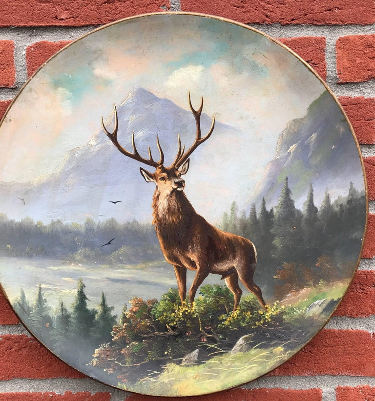 Sizeable and decorative wall plates depicting wildlife in the mountains.  These are not your average, transfer printed wall plaques or plates. These sizeable plates each come with a unique and hand-painted picture of a wildlife scene. Both plates