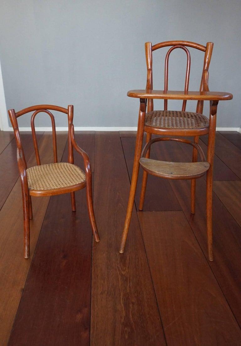 Jugendstil Antique Thonet Bentwood Puppenmobel Doll Chairs / Doll Furniture For Sale