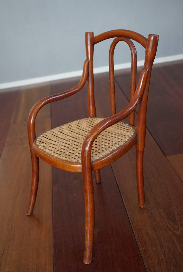 20th Century Antique Thonet Bentwood Puppenmobel Doll Chairs / Doll Furniture For Sale
