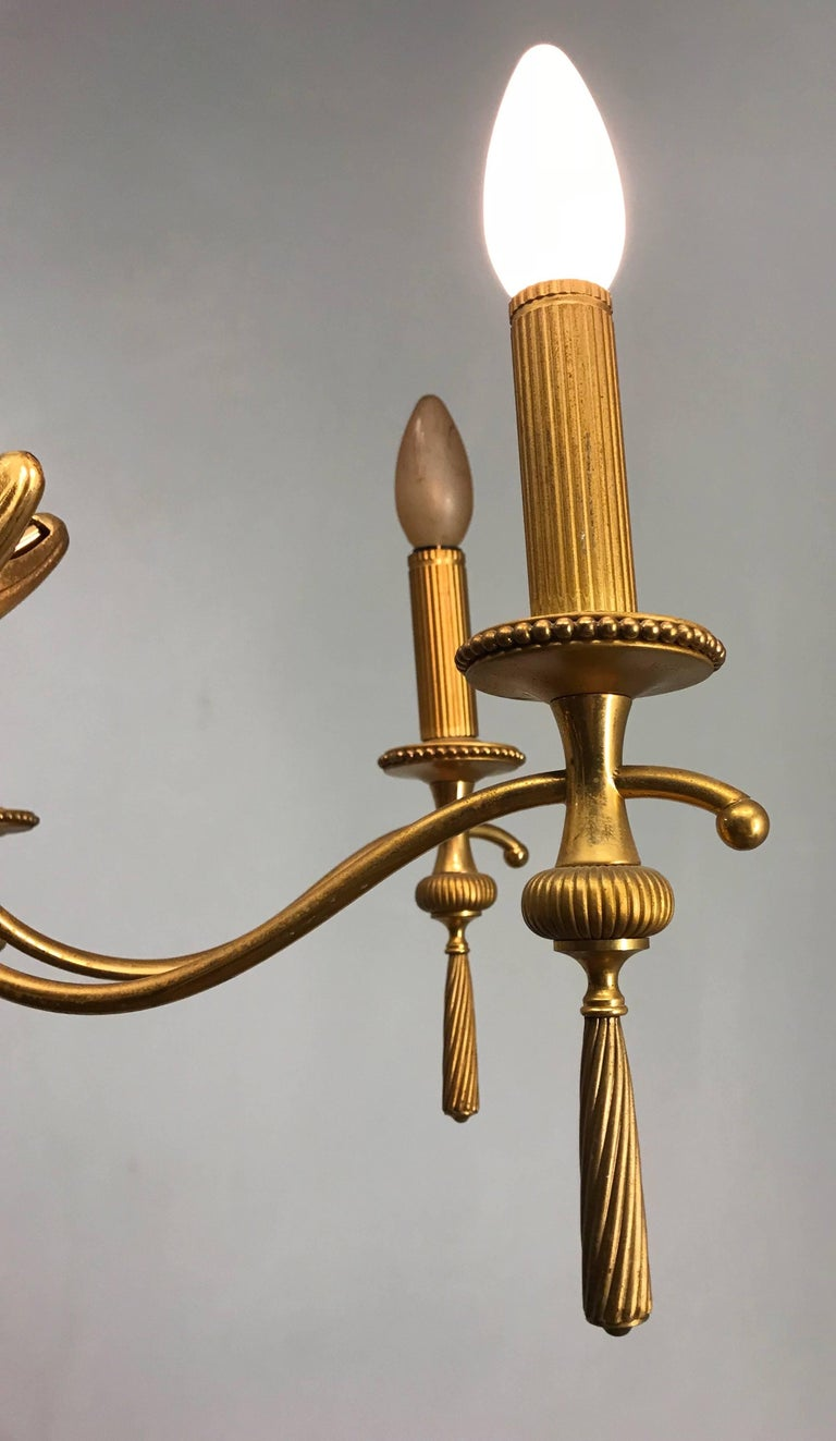 Vintage Sciolari, Roma Italy, Brass Pendant Light, Hollywood Regency Style In Good Condition For Sale In Lisse, NL