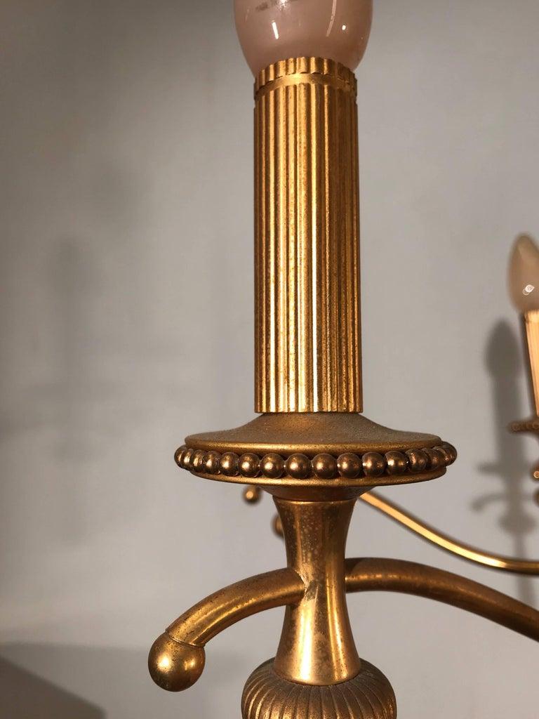 Vintage Sciolari, Roma Italy, Brass Pendant Light, Hollywood Regency Style For Sale 1