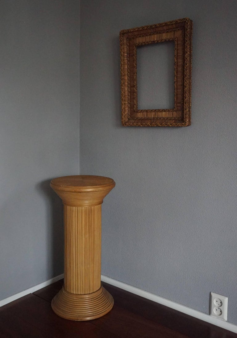 Hand Crafted And Stylish Mid Century Rattan Pedestal