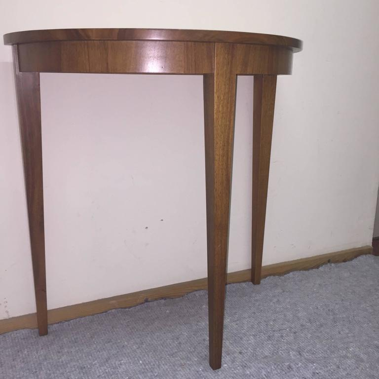 Table demi lune walnut at 1stdibs - Table cuisine demi lune ...