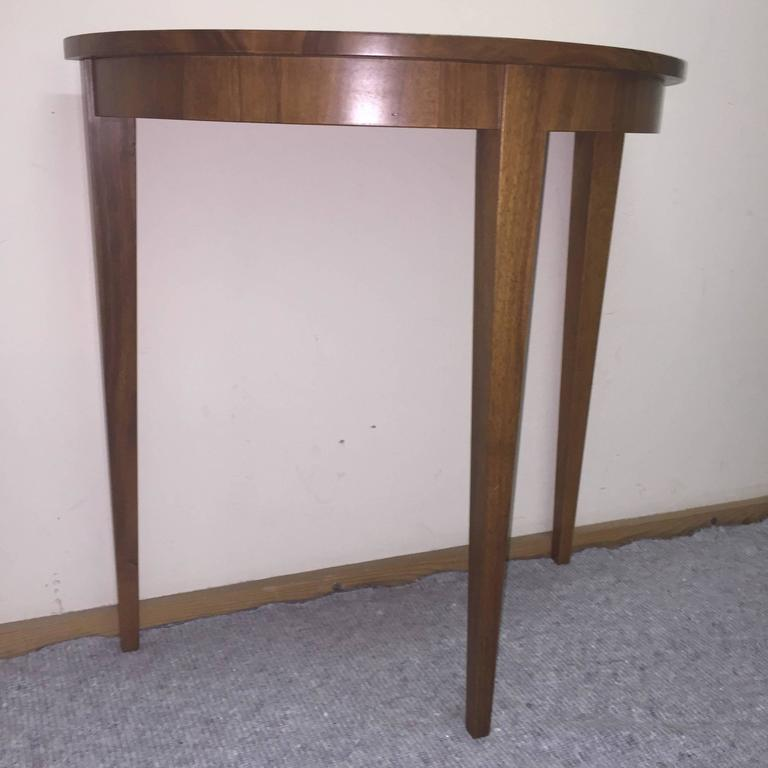 Table demi lune walnut at 1stdibs for Table cuisine demi lune