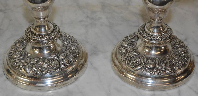 American S. Kirk & Sons Sterling Silver Candelabras For Sale
