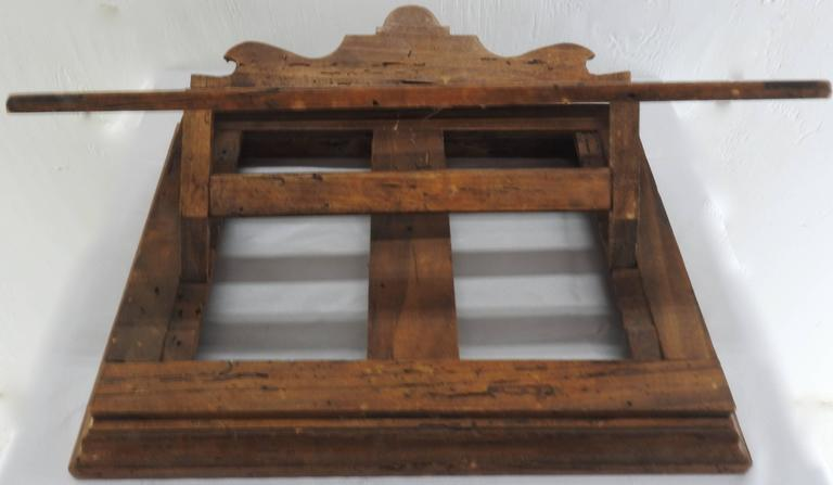 Gothic Revival Late 18th Century Italian Olive Wood Book Stand For Sale