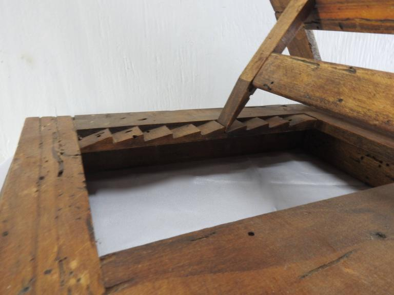 Late 18th Century Italian Olive Wood Book Stand For Sale 4