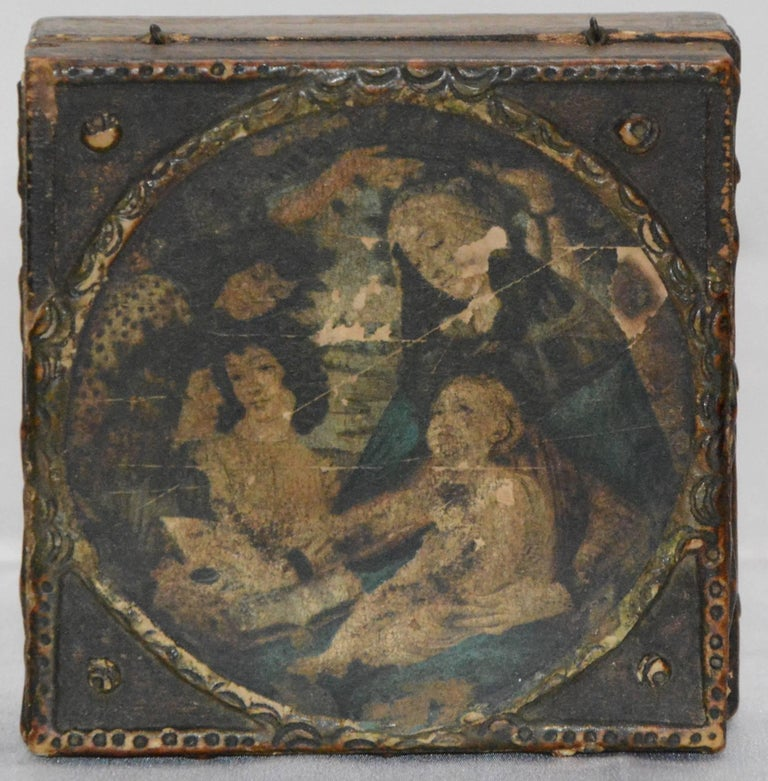 20th Century Florentine Box with Madonna and Child For Sale
