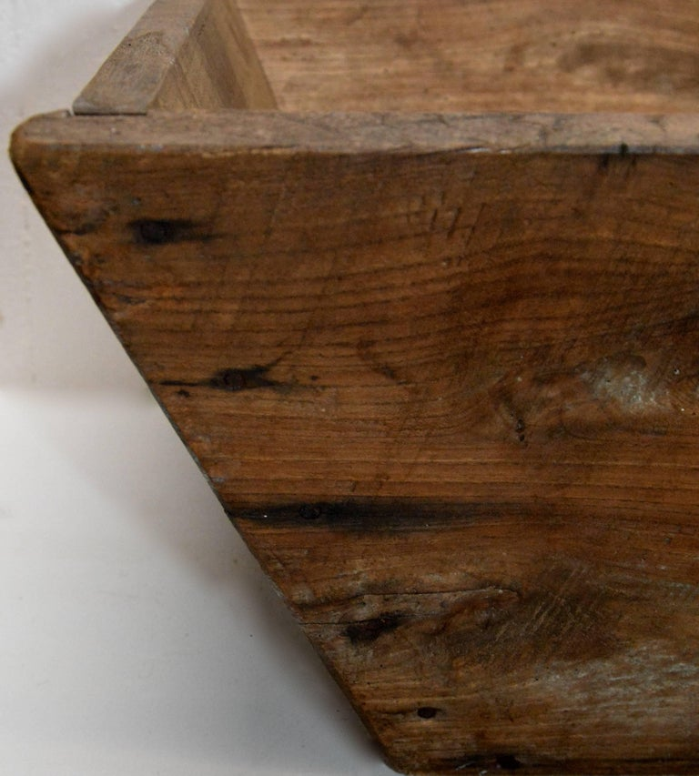 Hand-Crafted Primitive Wooden American Trough For Sale