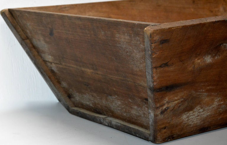 Walnut Primitive Wooden American Trough For Sale