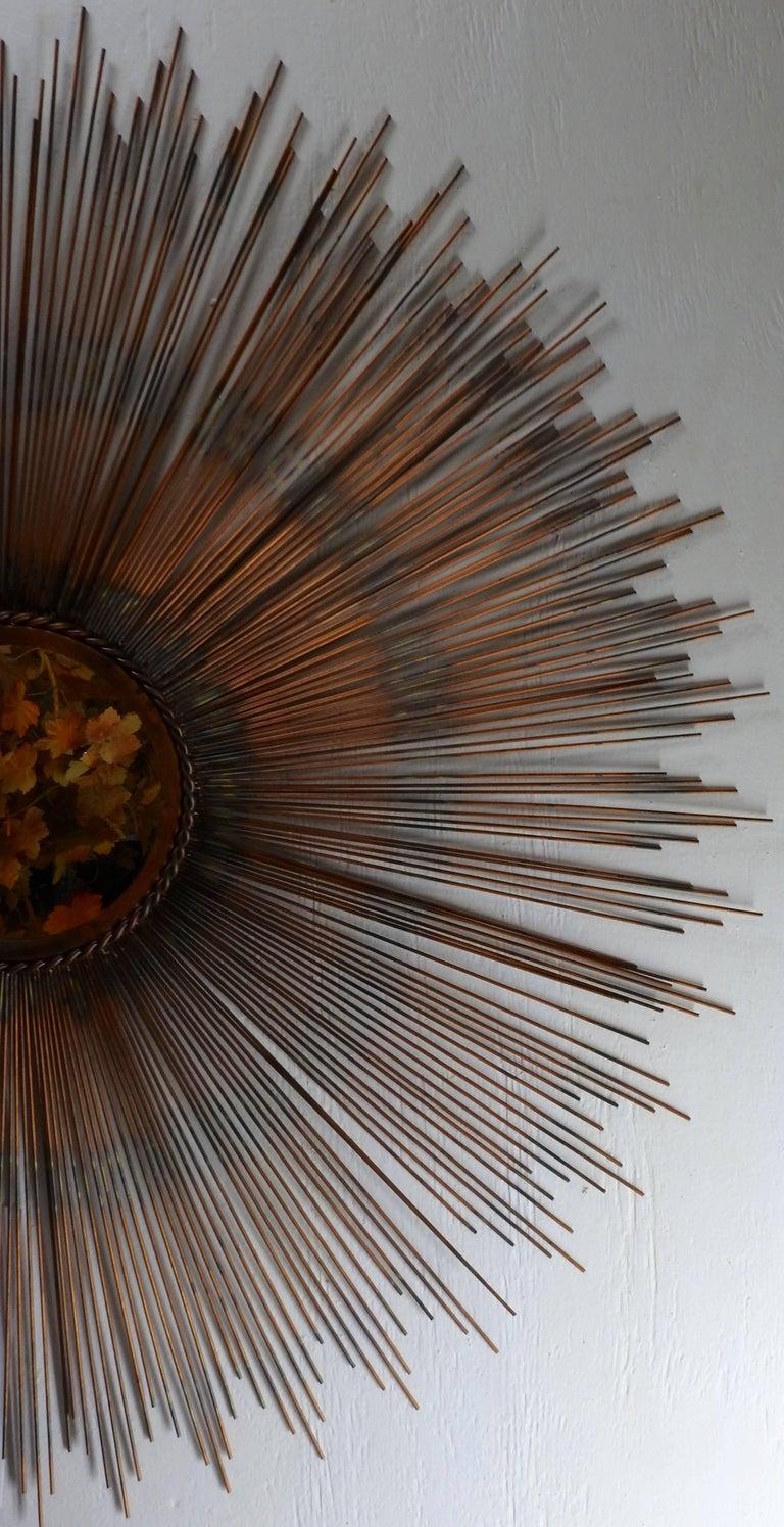 Mid-Century Modern Style Sunburst Mirror For Sale at 1stdibs