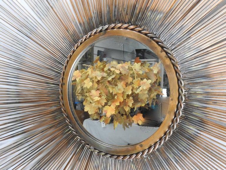 Sunburst Mirror Mid-Century Modern In Fair Condition For Sale In Cookeville, TN