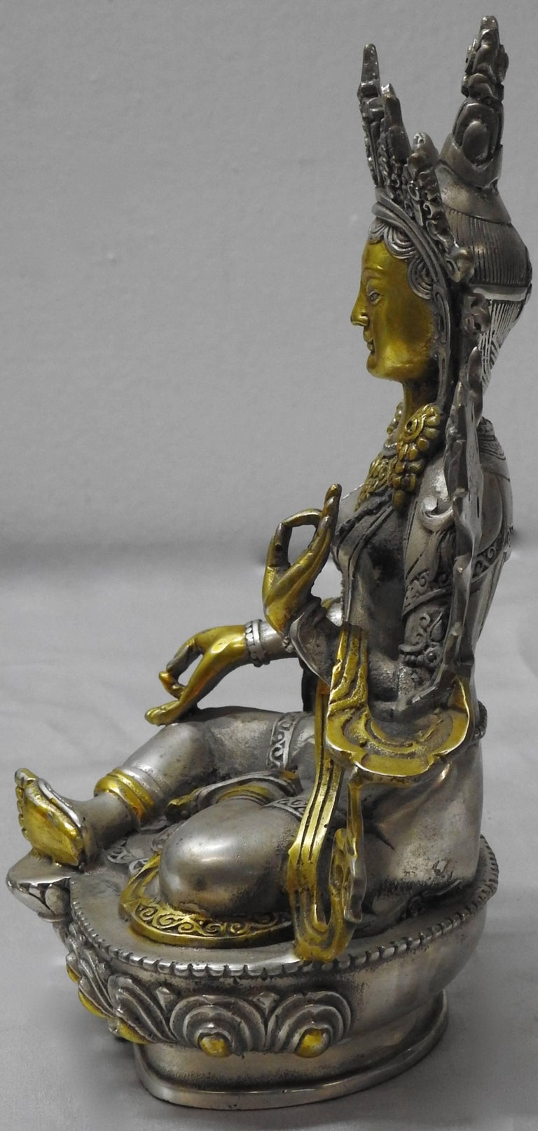 Brass Tara Goddess Of Peace Sand Protection Statue For