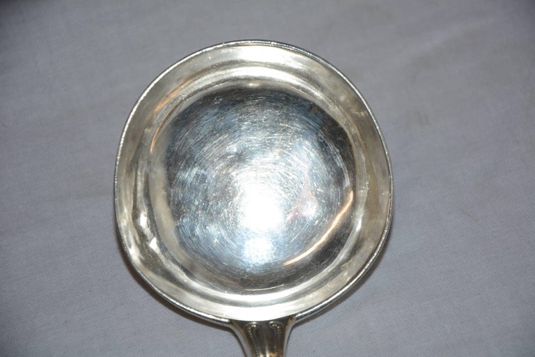 Sterling Silver Ladle New Orleans Hyde Goodrich, Mid-19th Century In Good Condition For Sale In Cookeville, TN