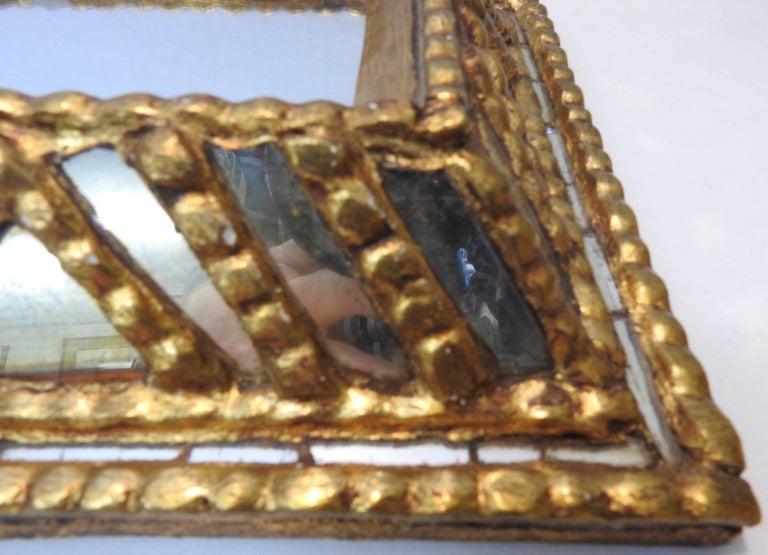 20th Century Italian Mirror with Gilt Midcentury For Sale