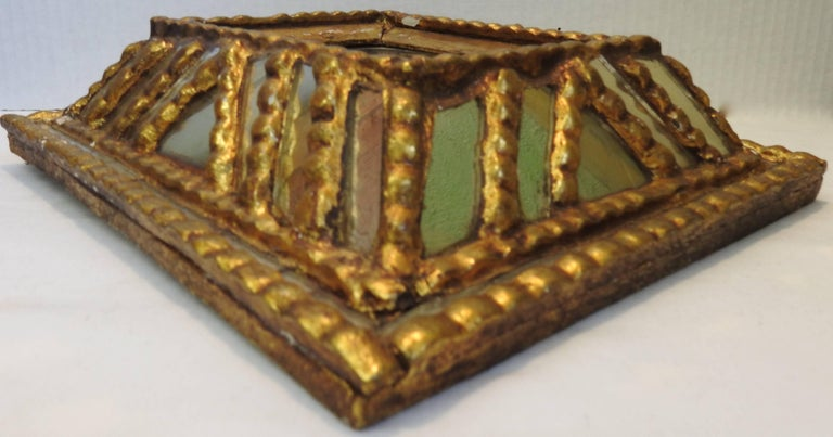 Italian Mirror with Gilt Midcentury In Fair Condition For Sale In Cookeville, TN