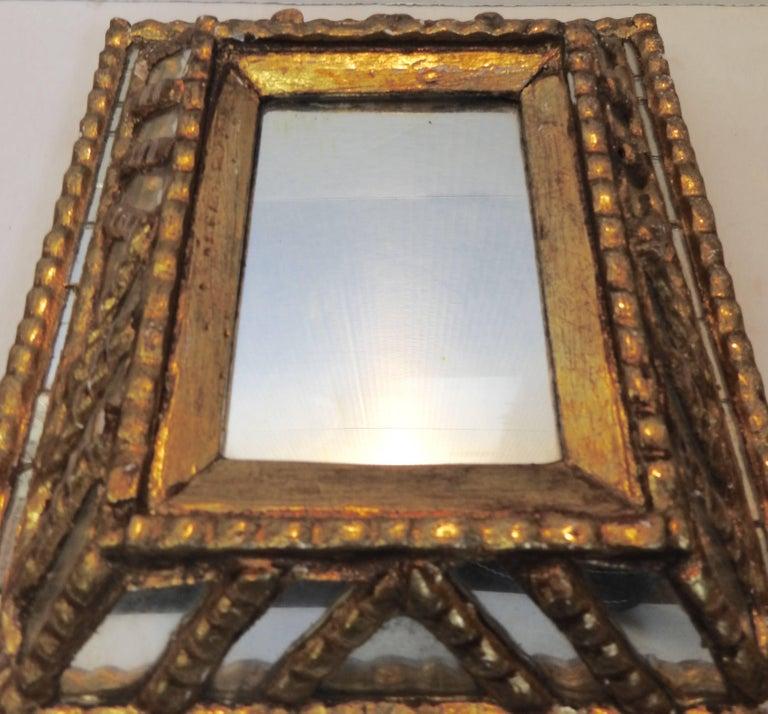 Italian Mirror with Gilt Midcentury For Sale 1
