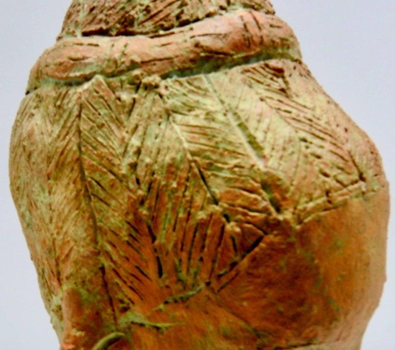 Terracotta Sculpture of Head Thailand For Sale 2